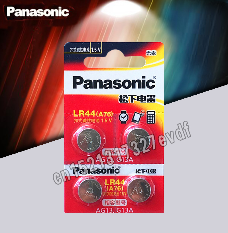 Panasonic 4pcs 1.5V Button Cell Battery Lr44 Lithium Coin Batteries A76 AG13 G13A LR44 LR1154 357A SR44 100% Original