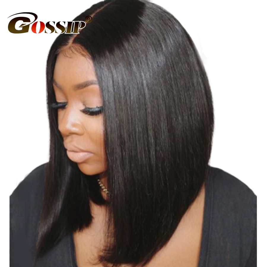 Peruvian Hair Straight Bob Wig 6 Inch Lace Front Bob Wigs For Women Black Human Hair Bob Wigs Remy 150% Bob Lace Front Wigs