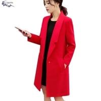 JQNZHNL Autumn winter New Fashion Women Clothing Coat Pure Big yards Elegant Long sleeve Coat Double sided Female cloth Coat