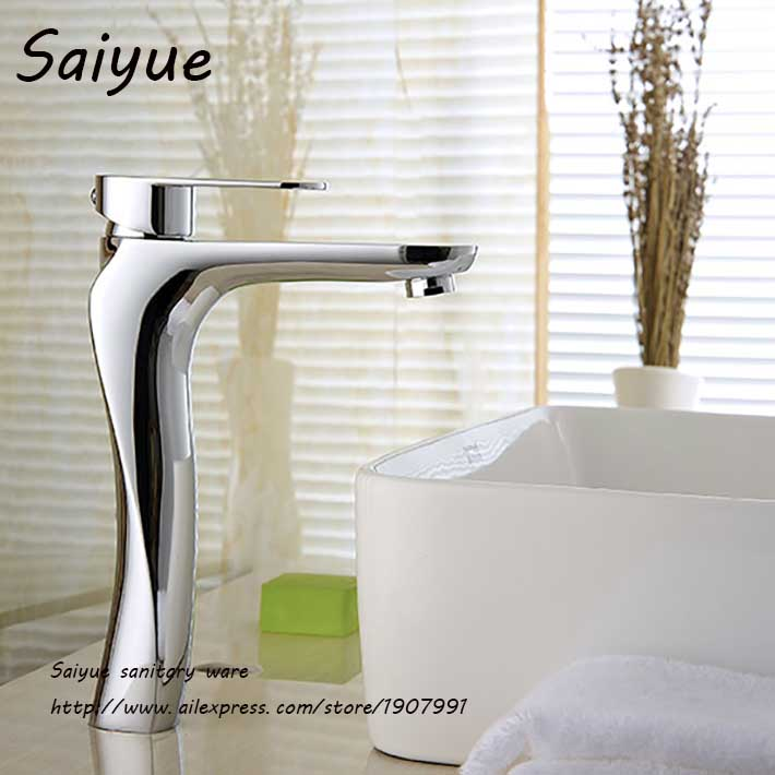 New  S Shape Single Handle Long Faucet  torneira banheiro Hot & Cold Mixer Brathroom Water Tap Deck Mounted  Basin FaucetsNew  S Shape Single Handle Long Faucet  torneira banheiro Hot & Cold Mixer Brathroom Water Tap Deck Mounted  Basin Faucets