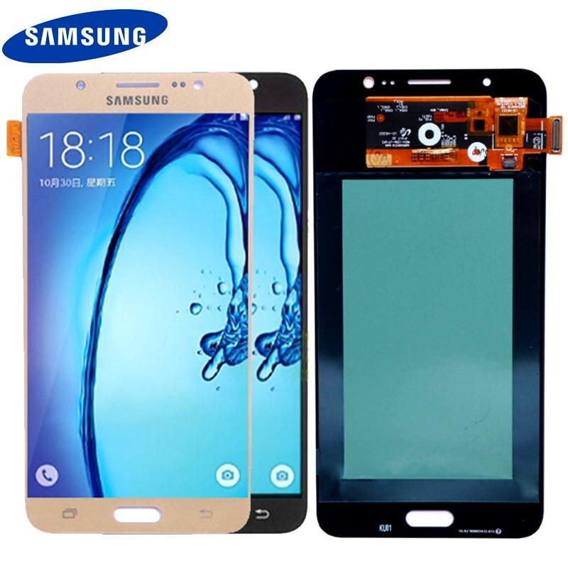 SUPER AMOLED 5.5 ''Affichage Pour SAMSUNG Galaxy J7 2016 J710 J710FN J710F J710M J710Y J710G LCD Digitizer Assemblée Remplacement