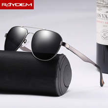 Raydem Aluminum Magnesium Semi Rimless Sunglasses Polarized Men Coating Mirror Driving Sun Glasses Eyewear Accessories Shades