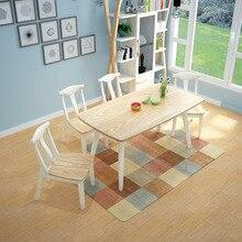 Esstische Und Stühle Set Esszimmer Set Esstisch Möbel Wohnmöbel Massivholz  Rechteck Esstisch 4 Stühle Sets