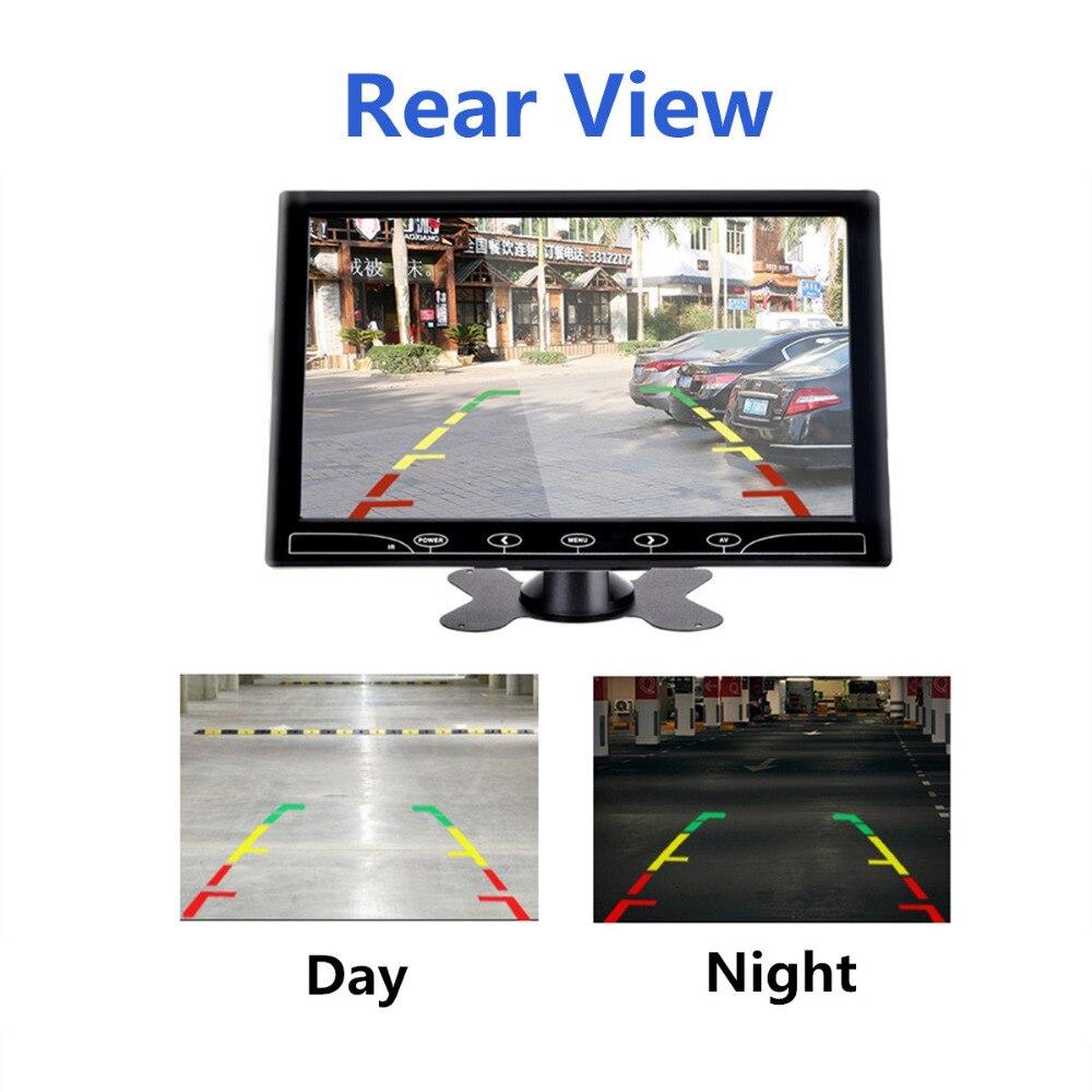 Écran LCD 9 pouces avec écran AV VGA HDMI pour voiture et Smartphone