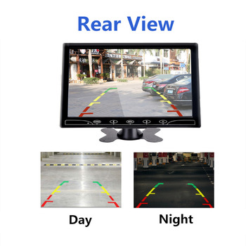 Wearson 9 inch LCD Cast Screen Monitor With AV VGA HDMI For Car and Smartphone