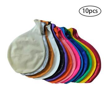 AUGKUN 10 шт. 36 дюймов очень латексный круглый воздушный шарик взрывных сплошной Цвет Фольга баллоны с гелием на день рождения Свадебная вечери...