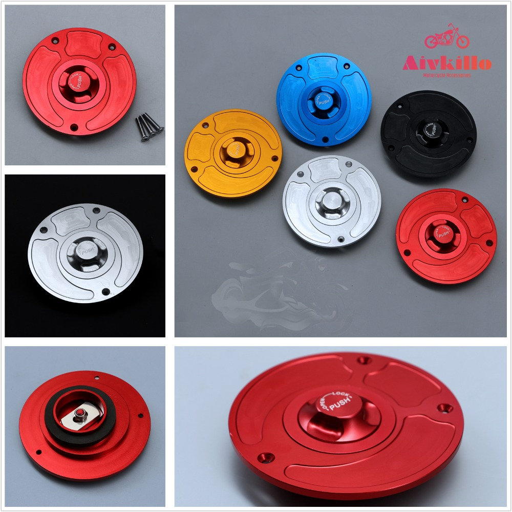 CNC Keyless Fuel Gas Tank Cap Fit For Ducati 748 916 996 998 848 1098 Monster SuperSports All Years