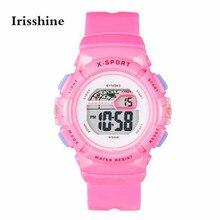 Irisshine B0856 Crianças Meninos Menina dos miúdos Das Crianças dom relógio marca de luxo À Prova D' Água LED Digital Sports Com Data Relógio de Pulso