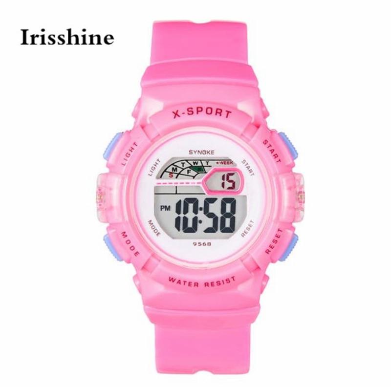 Irisshine B0856 Children kids watch gift brand luxury Waterproof Children Boys Girl Digital <font><b>LED</b></font> Sports With Date Wrist Watch