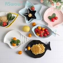 7 шт набор керамических тарелок столовых приборов простые креативные