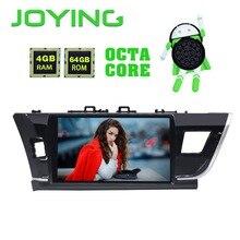Радуясь 10,1 »ips экран стерео Мультимедийный плеер gps навигатор 4 Гб оперативная память 64 Встроенная клейкие ленты регистраторы для Toyota Corolla 2014 2015 2016