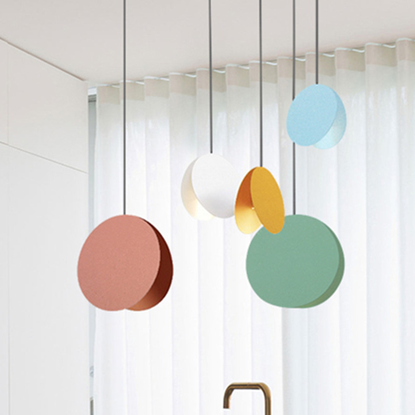 Fashion lamps LED pendant lights Iron plate  colurful Lampshade indoor lamp Hanging sitting dining-room bar coffee lighting led lamp creative lights fabric lampshade painting chandelier iron vintage chandeliers american style indoor lighting fixture