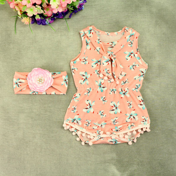 4fa301589191 Summer Baby Floral Romper Baby Girl Ruffle Rompers Infant Toddler Jumpsuit  Newborn Baby Girl Clothes