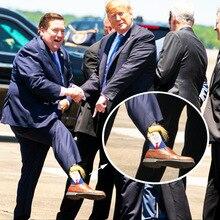 Moda Mulaya Brand Quality Mens Happy Socks Trump Novelty 100% Cotton Street Wear President Funky Dress for Man Gift