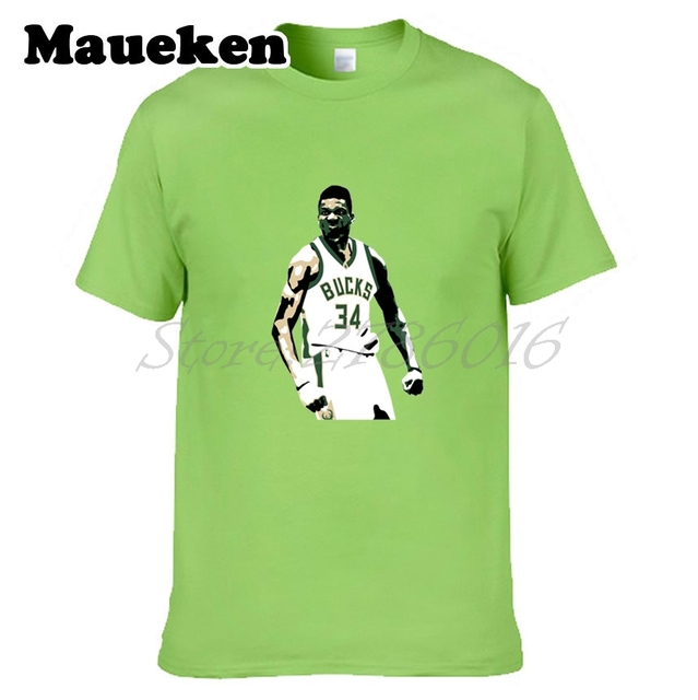 ae04d68e5e2 Men The Alphabet Giannis Antetokounmpo 34  milwaukee Greek Freak T-shirt  Clothes T Shirt Men s bucks o-neck tee W17080501