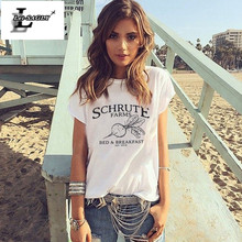Lei SAGLY Schrute Farms TSHIRT Schrute Farms tshirt the Office Shirt Graphic Tee BED AND BREAKFAST Women Summer Short Sleeve Tee
