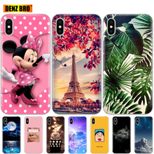 Silicone Case For iphone X XS XR case Cover for iphone xs max coque etui bumper back soft tpu phone cover protective painting check pattern protective silicone back cover case w rhinestone for iphone 5 purple