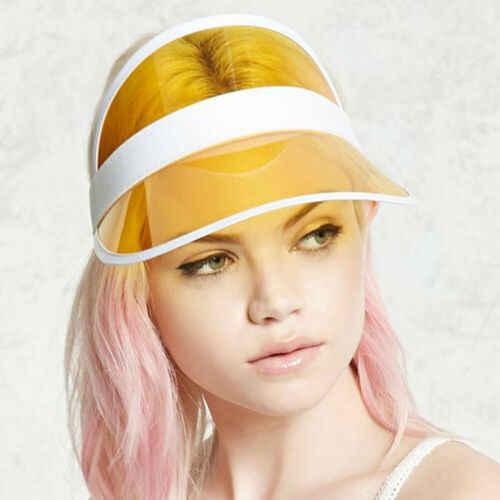 هيرجن الصيف البلاستيكية قبعة الشمس قناع الطرف قبعة عادية واضح البلاستيك الكبار قبعة واقية من الشمس