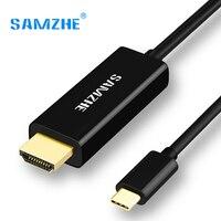SAMZHE USB 3.1 USB para HDMI C Tipo de Cabo C a Gráficos De Vídeo Conversor HDMI 4 K 30Hz UHD Externo Estender Cabo/Adaptador de 1.2 m