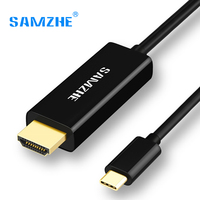 SAMZHE USB 3.1 USB C to HDMI Cable Type C to HDMI Converter 4K 30Hz UHD External Video Graphics Extend Cable/Adapter 1.2m