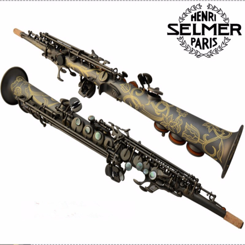 High quality New Musical Instruments Top French Selmer 54 B Soprano saxophone matte black Professional performance free shipping brand new soprano saxophone yss 475 bronze b flat playing professionally one straight top musical instruments professional grade