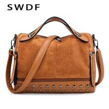 SWDF 2019 Fashion Women Bag Handbags PU Shoulder Bag Solid Flap Crossbody Bags For Women Messenger Bags Tote For women Purse Sac цена 2017