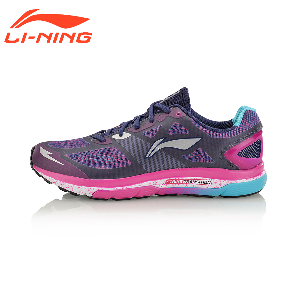 Li-Ning Women's  Running Shoes Strike Transition Sneakers Cushion Breathable Wearable LiNing Brand Sports Shoes ARHM076 original li ning men professional basketball shoes