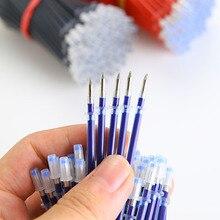 0,5 мм 20 шт./пакет заправляемая ручка подпись в офисе стержни для ручек цвета — красный, синий, черный пополнения чернил офисные школьные принадлежности для офиса письменные принадлежности