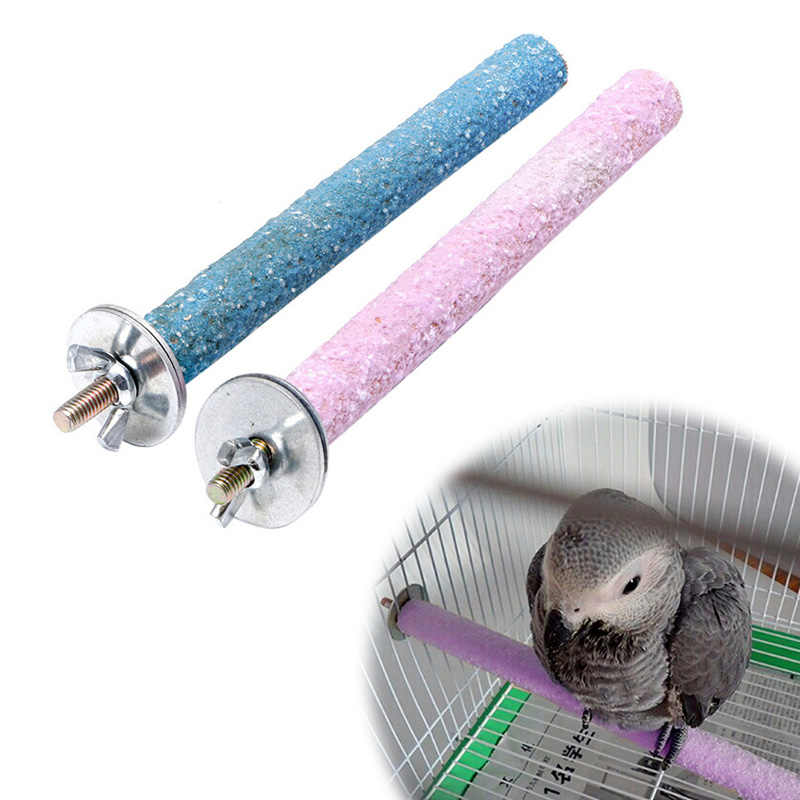 Colorful Pet Bird Chew Paw Grinding Toys Parrot Harness Cage Budgie Clean Tool Random color-Y102