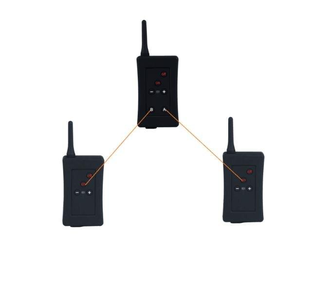 3 pcs Latest EJEAS Brand Football Soccer Referee Intercom Motorbike Intercom Full Duplex Bluetooth Referee Headset