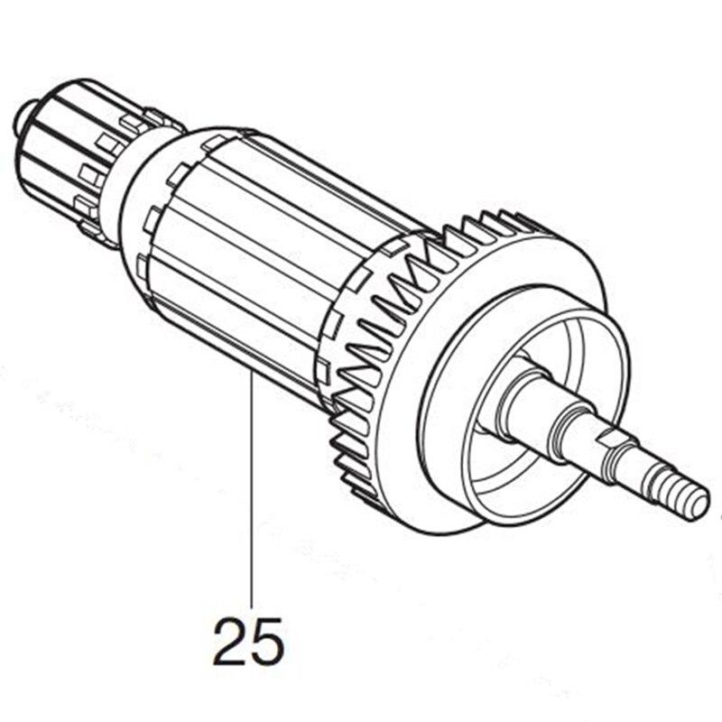 Genuine Armature For Makita 519268-2 UC250D BUC250 DUC252Genuine Armature For Makita 519268-2 UC250D BUC250 DUC252