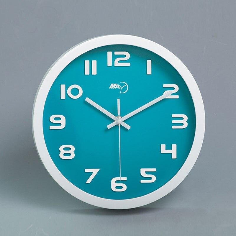 10 дюйм(ов) ABS Mute творческой молчание гостиная кварцевые настенные часы круглые современного декора дома часы