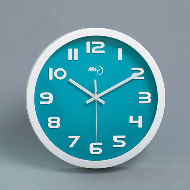 10 Inches Abs Mute Creative Silent Living Room Quartz Wall Clock Round Modern Home Decor Clock