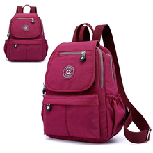 New Casual Ladies Backpack Nylon Waterproof Wearable Leisure College Wind Boy Girl Student Bag Outdoor Travel