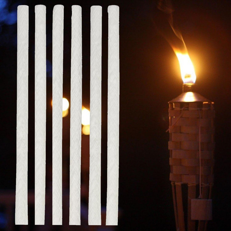 12 Pcs ensemble 25 cm Longue Torche Mèche Alcool Lampe À Huile En Fiber De  Verre Remplacement Mèches kaarsene candele velas Stoppini di olio DIY  artisanat 024e54151929