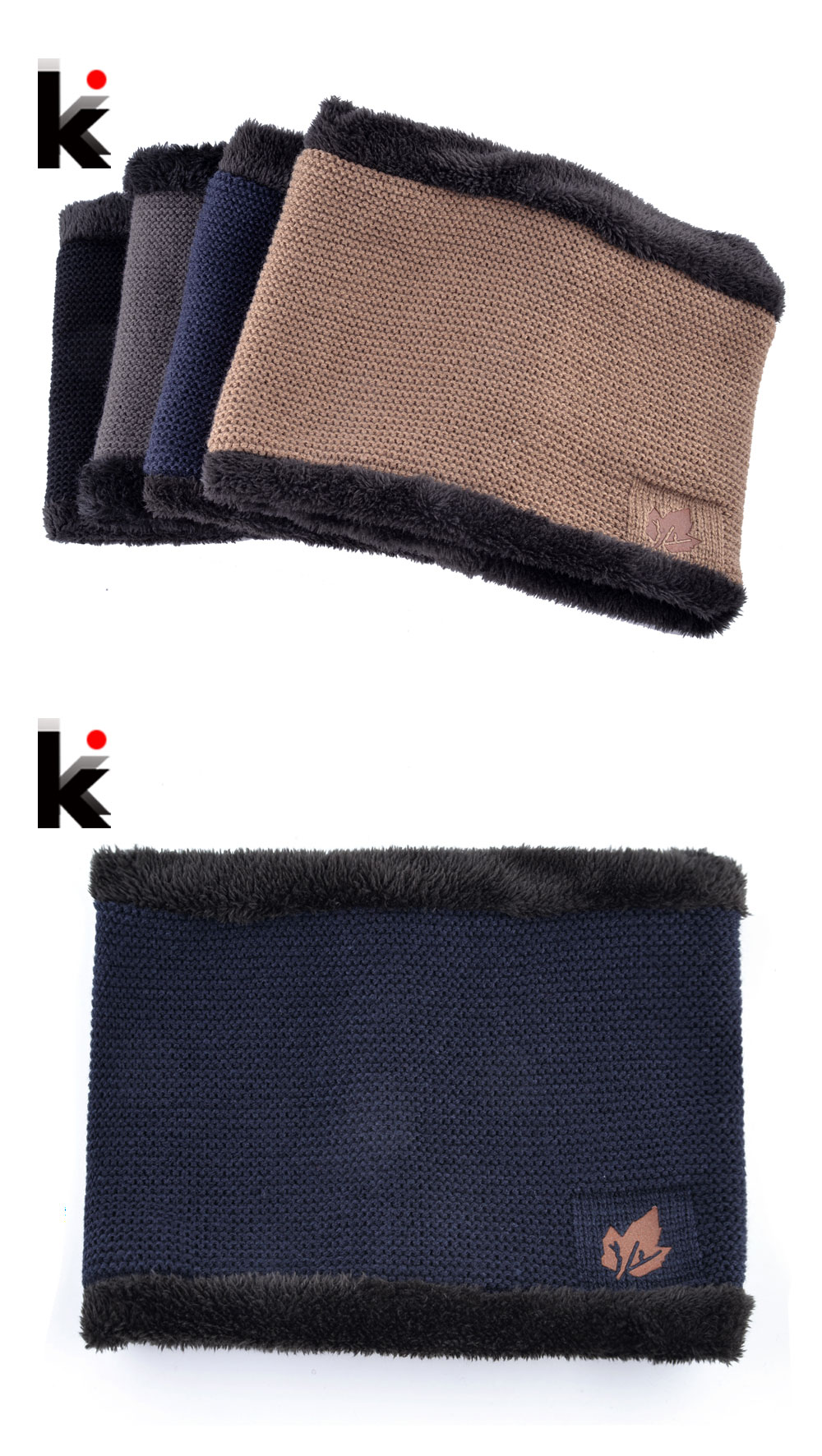 1746f90a590 2018 Men Winter Hat Scarf Sets Fashion Maple Leaf Knitted Skullies Beanies  Man Thick Add Velvet Knit Bonnet Cap Boys Scarves Set. K 01 K 02 K 03 ...