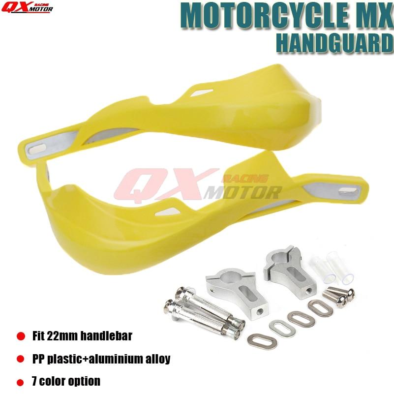 """Motociklų rankenos apsauginės sijos Motorcross purvo dviračių rankų apsaugai tinka CRF YZF KXF kinų 7/8 """"22mm rankenos"""