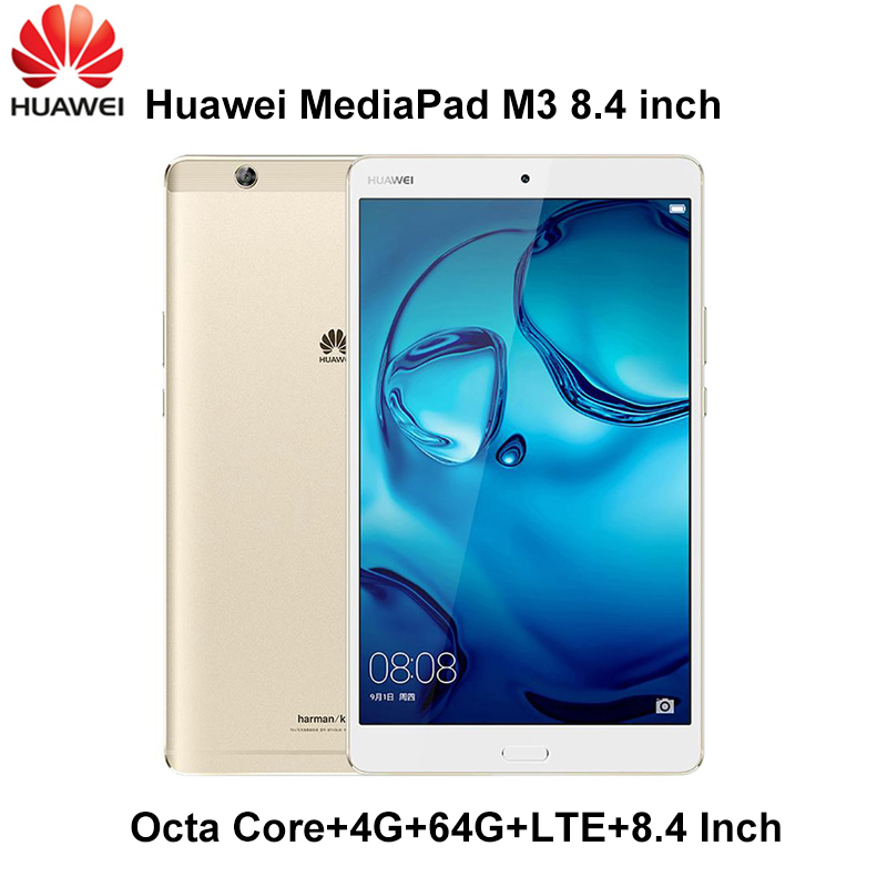 Huawei MediaPad M3 4G Ram 64G Rom LTE 8.4 pouces Android 6.0 Kirin 950 Octa Core Ips Android 6 original huawei M3 ROM mondiale