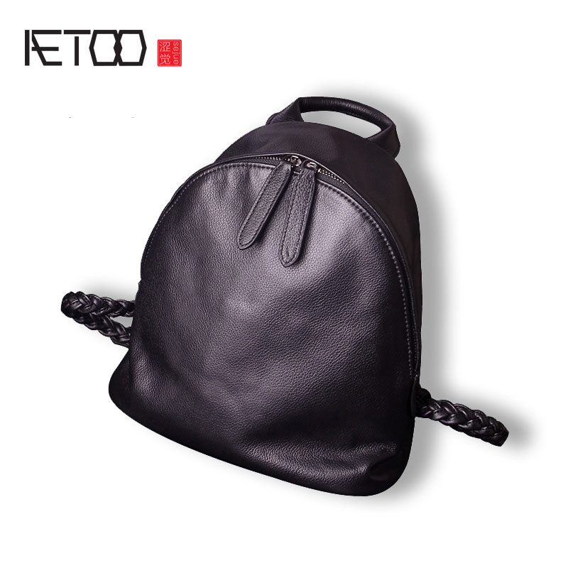 AETOO Simple leather shoulder bag female version of the retro first layer of leather soft leather backpack decen string grid connected pure sine wave inverter 5000w with two mppt 220vac power inverter applicable to various countries
