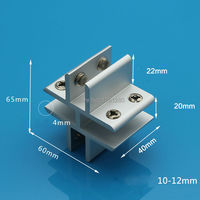 Free Shipping 10 12MM Aluminum Glass Clamp T Window Clamp Folder Shelf Connector Furniture Hardware Fitting