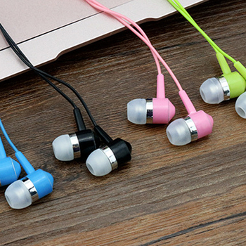 100pcs In-Ear 3.5mm Subwoofer Crystal Wired Earphone Headset In-line Control computer Smartphone With Mic for Android Universal
