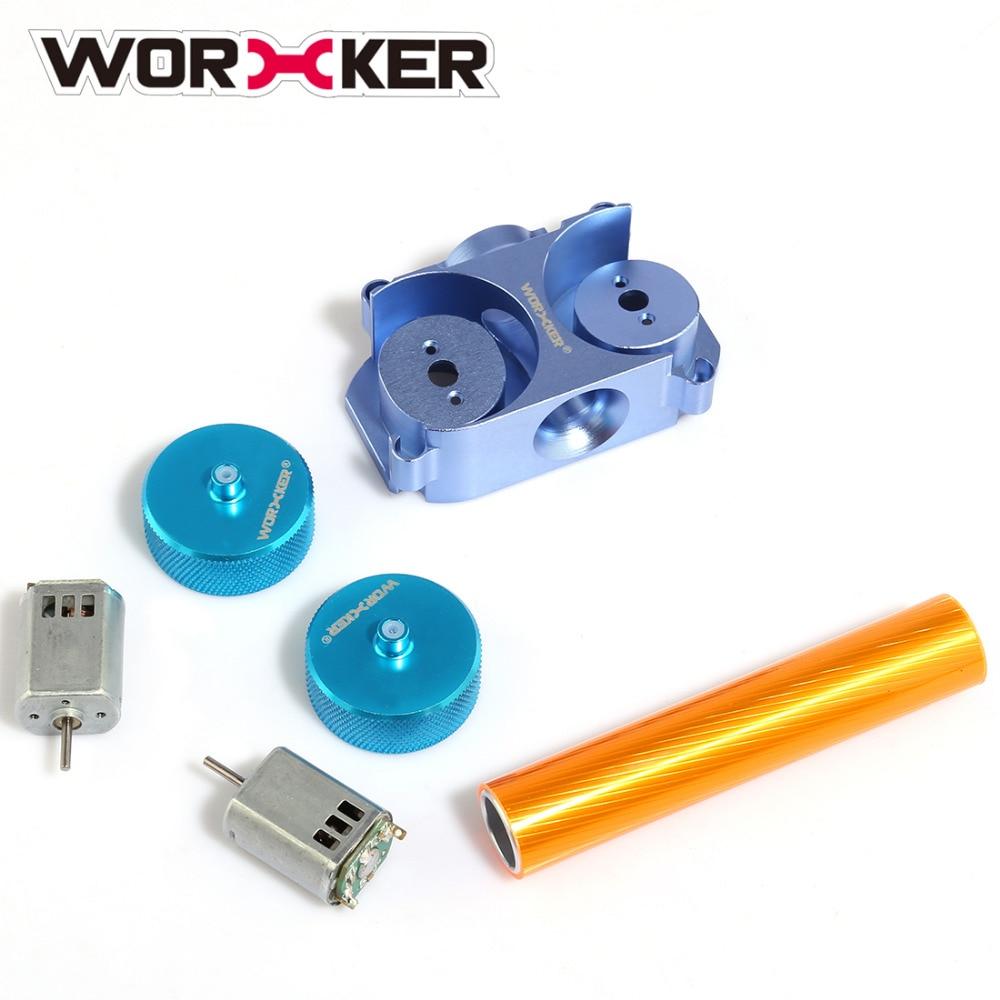 лучшая цена WORKER Modified Parts Set for Nerf STF/CS-18 (Diamond Pattern) - Orange + Blue