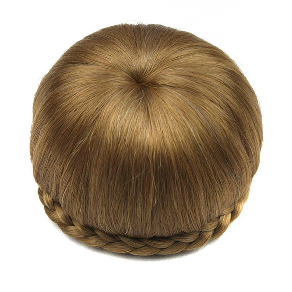 Soowee 6 цветов Синтетические волосы зажим в волосах Плетеный Chignon Donut ролика парики каштановые волосы булочка Головные уборы Интимные аксессуары для Для женщин