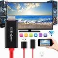 Negro MiraScreen LD5-1U stick de Tv 1080 P 1080 P Full-hd HDMI Mirroring Cable Para OS IOS teléfono Inteligente HDMI USB Tv Por Cable palos