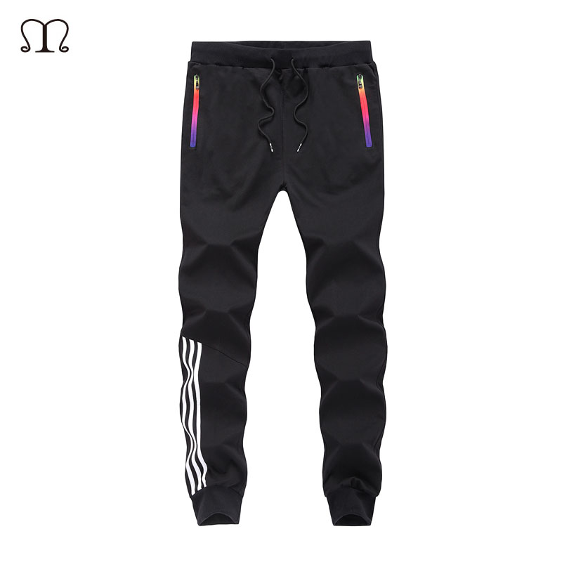 Spring Casual Men Sweat Pants Male Cotton Sportswear Casual Trousers Straight Pants Hip Hop High Street Trousers Pants joggers(China)