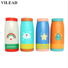 VILEAD Cartoon Weather Stainless Steel Thermos Mug Garrafa Termica Belly Cup Termos Vacuum Flasks Cup for Office Water Bottle