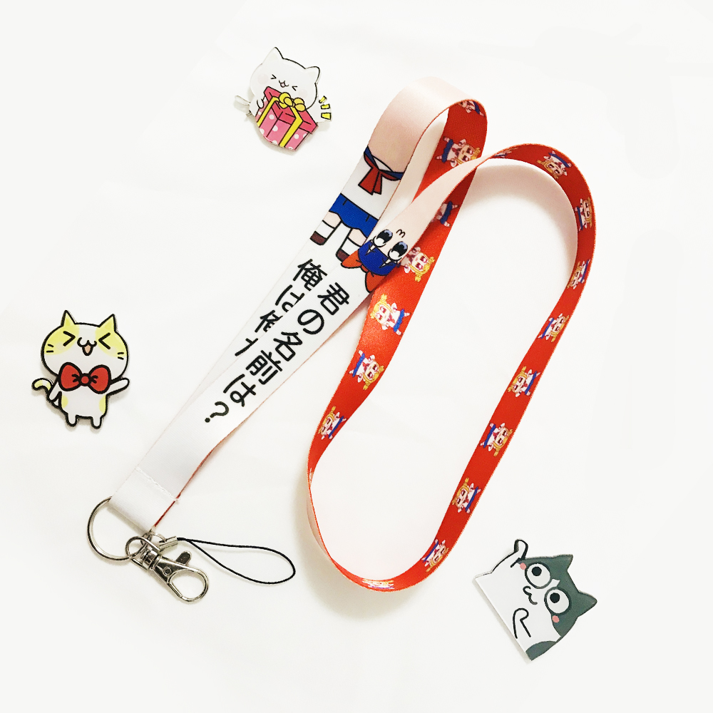 Pop Team Epic Popuko Pipimi Hight Quality Printed Neck Strap Mobile Phone Lanyard