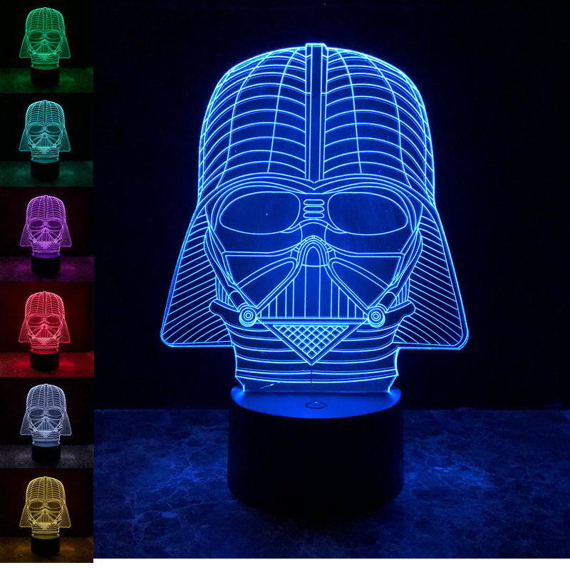 Hearty Led Luminous Nightlight Colourful Changing Light Glow Star Wars Darth Vader Helmet Black Knight Mask Figure Toys Back To Search Resultstoys & Hobbies