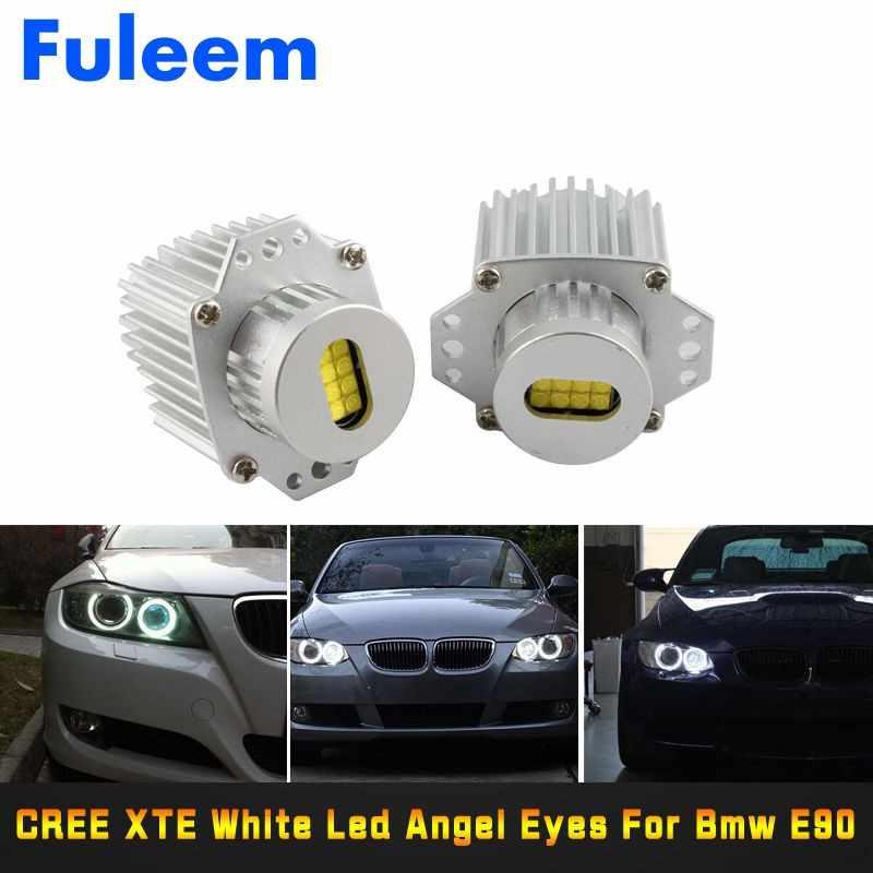 Set Amber Yellow H8 Led Marker Angel Eyes Halo Ring Light Bulb For Bmw Canbus