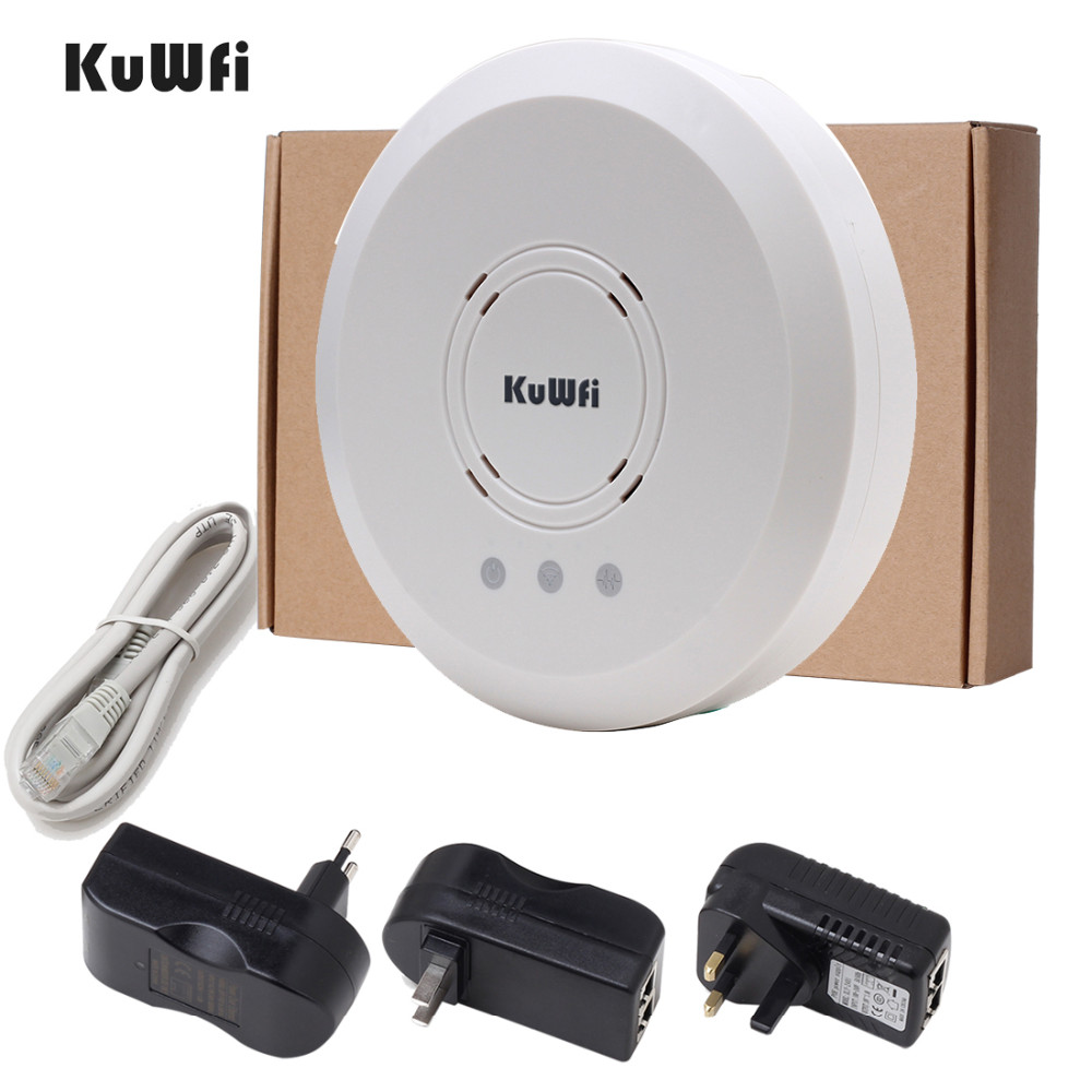 Image 5 - Kuwfi 300Mbps Indoor Ceiling Mount Wireless Access Point Controller System Wireless Router Long Coverage For Hotel/School-in Wireless Routers from Computer & Office